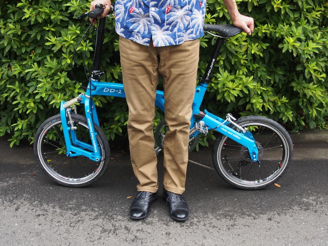 自転車用のズボンはシニア向き