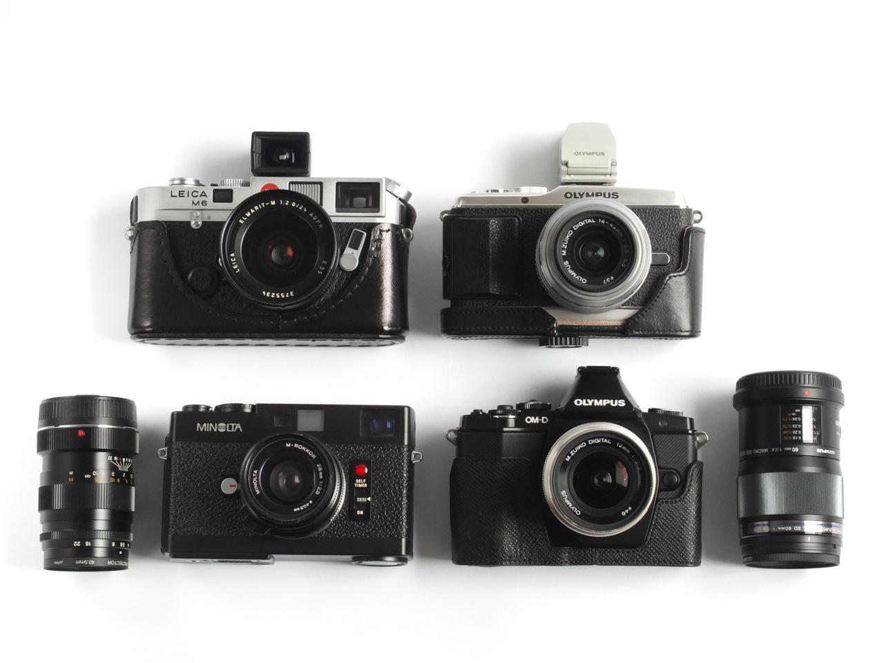 ミラーレスカメラの大きさについて