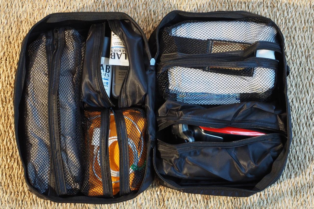 旅の手回り品の整理バッグ