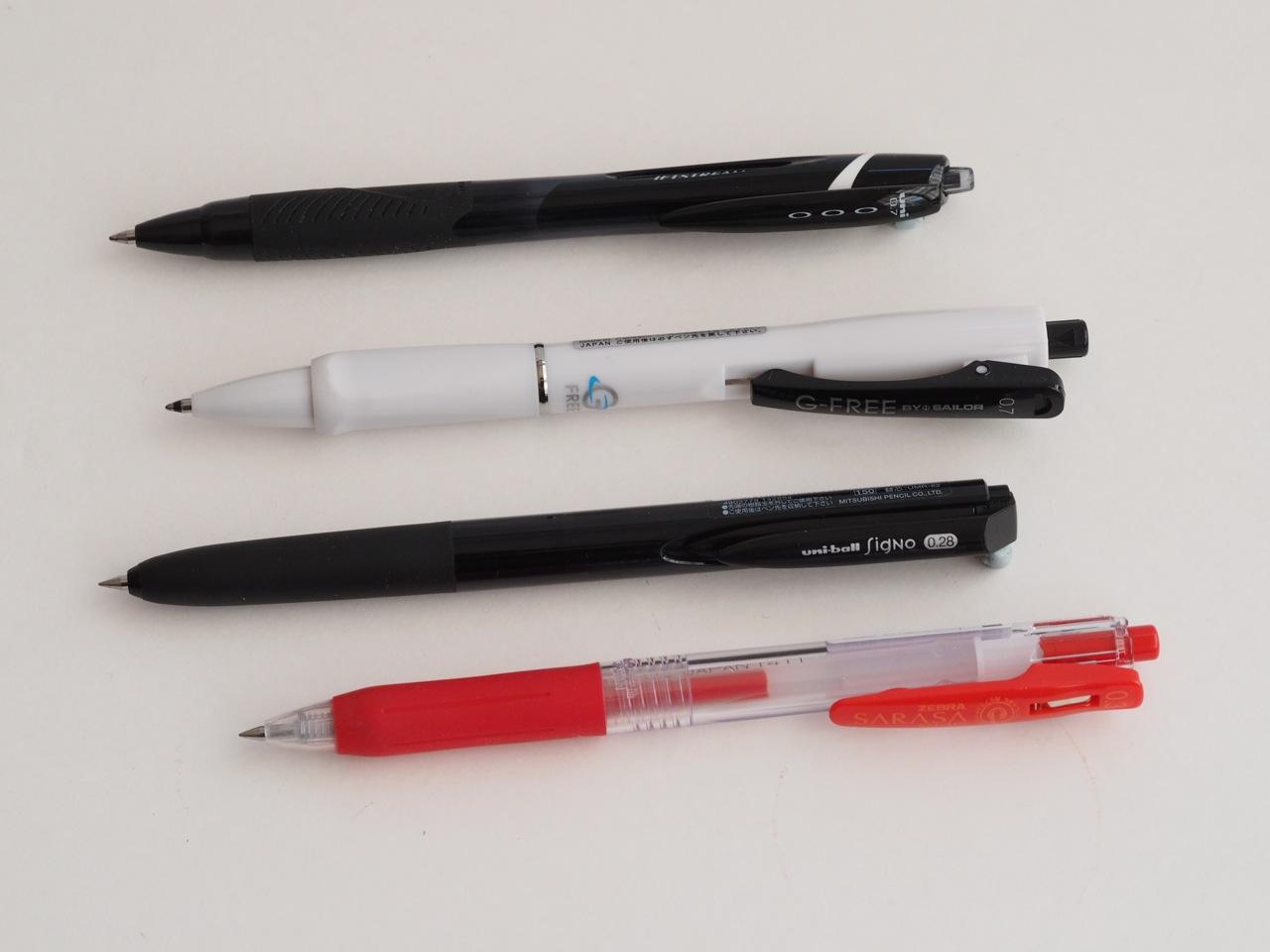 話題のボールペン、書き比べ