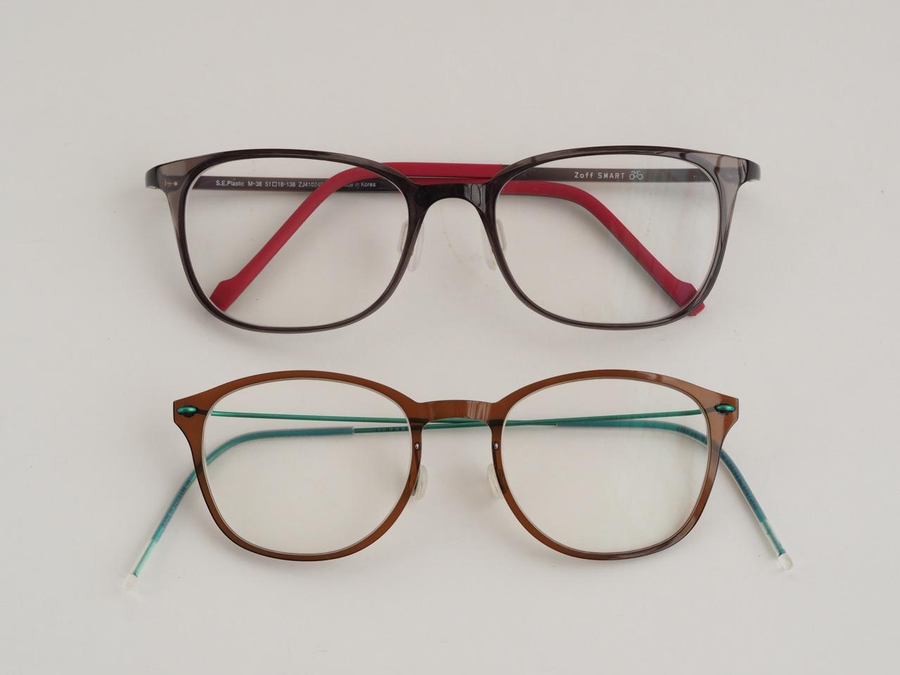 ローコストで超軽量の眼鏡フレーム