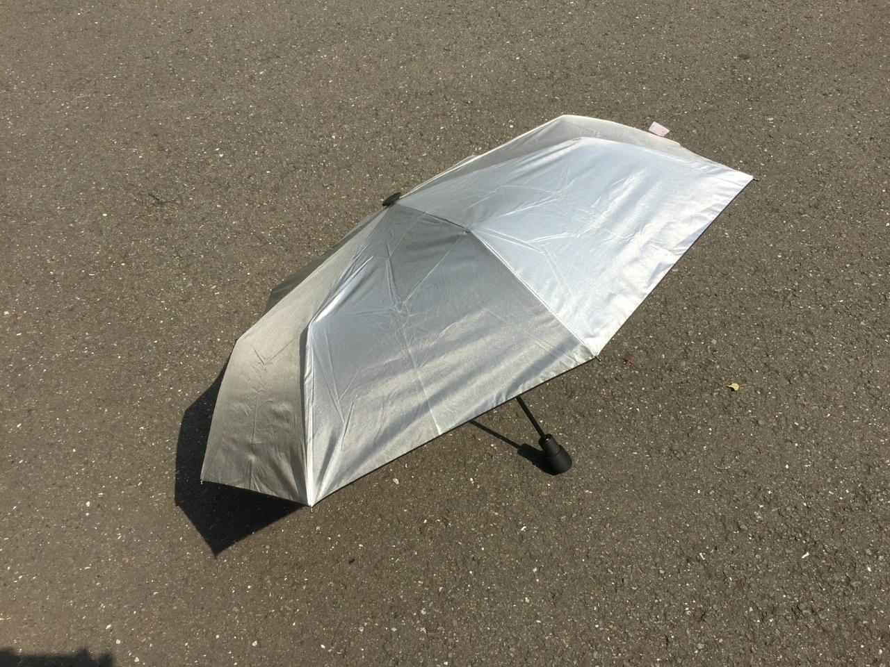 熱中症に備えて折り畳み日傘を