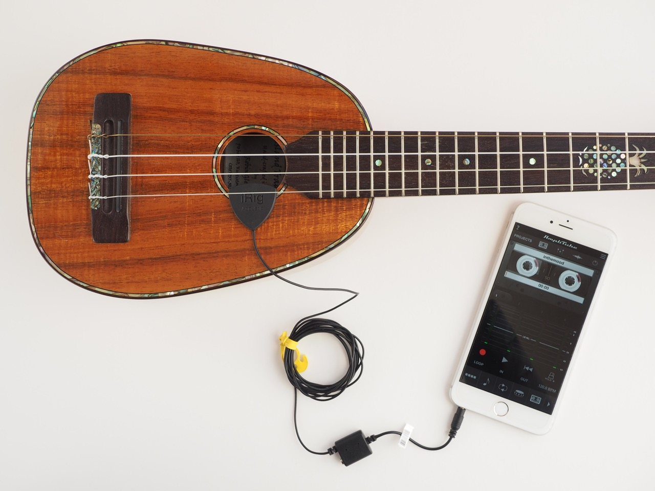 ギター、ウクレレのちょい録音が簡単