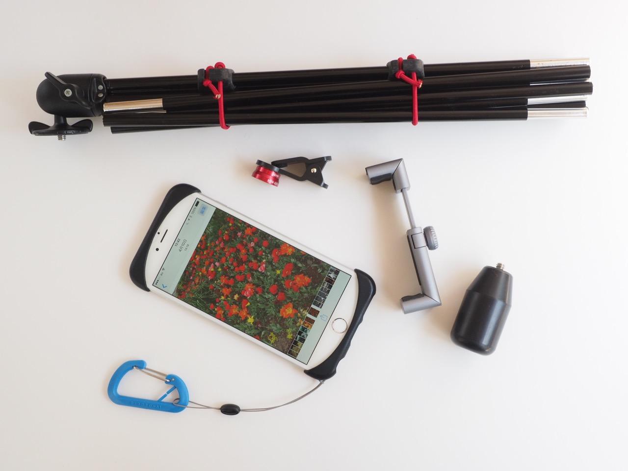 スマートフォンを撮りやすくするホルダー