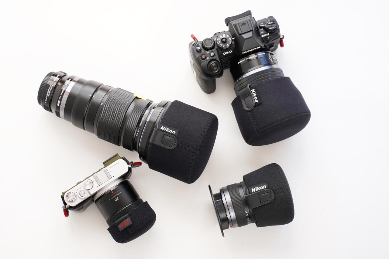 カメラレンズと相手を傷つけないための道具