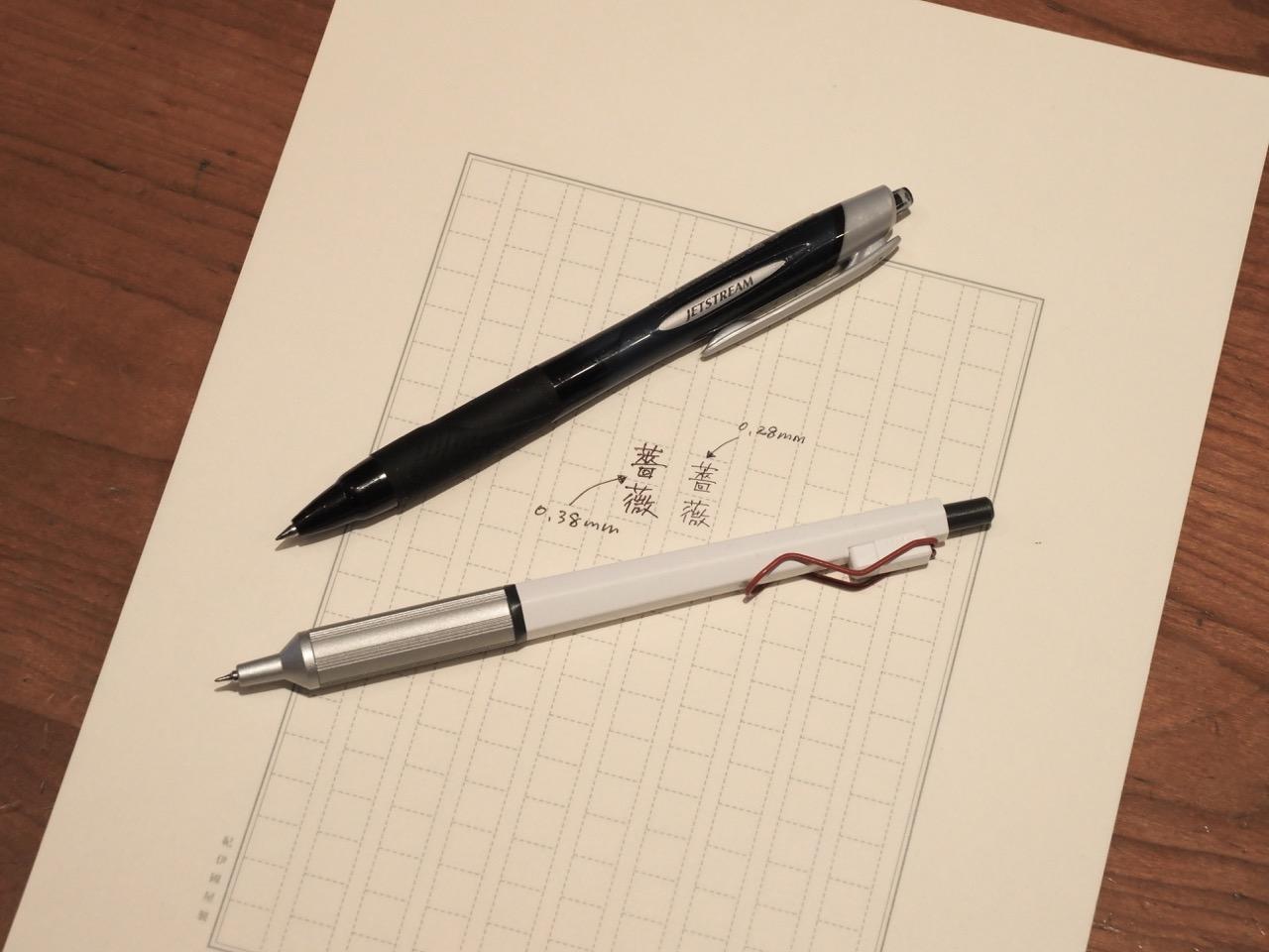 漢字を正しく書くための細字ペン