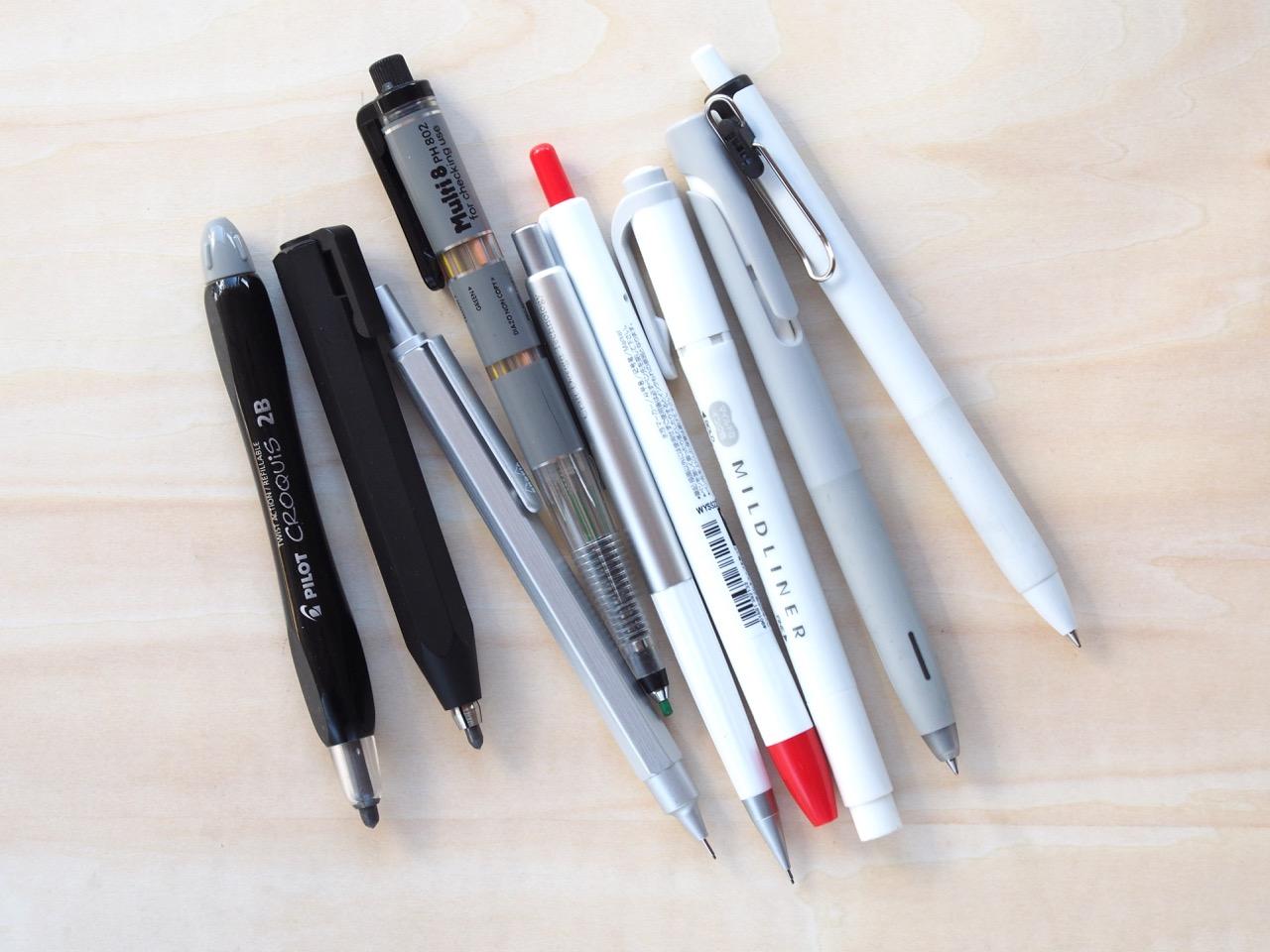 グッドデザインの筆記具