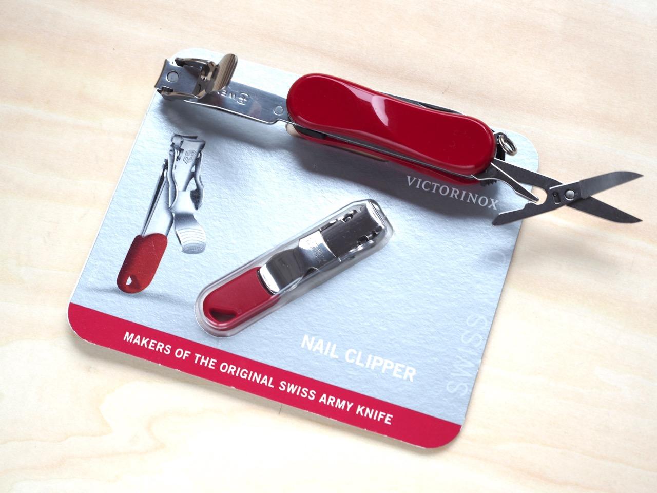 スイスアーミーナイフの爪切り