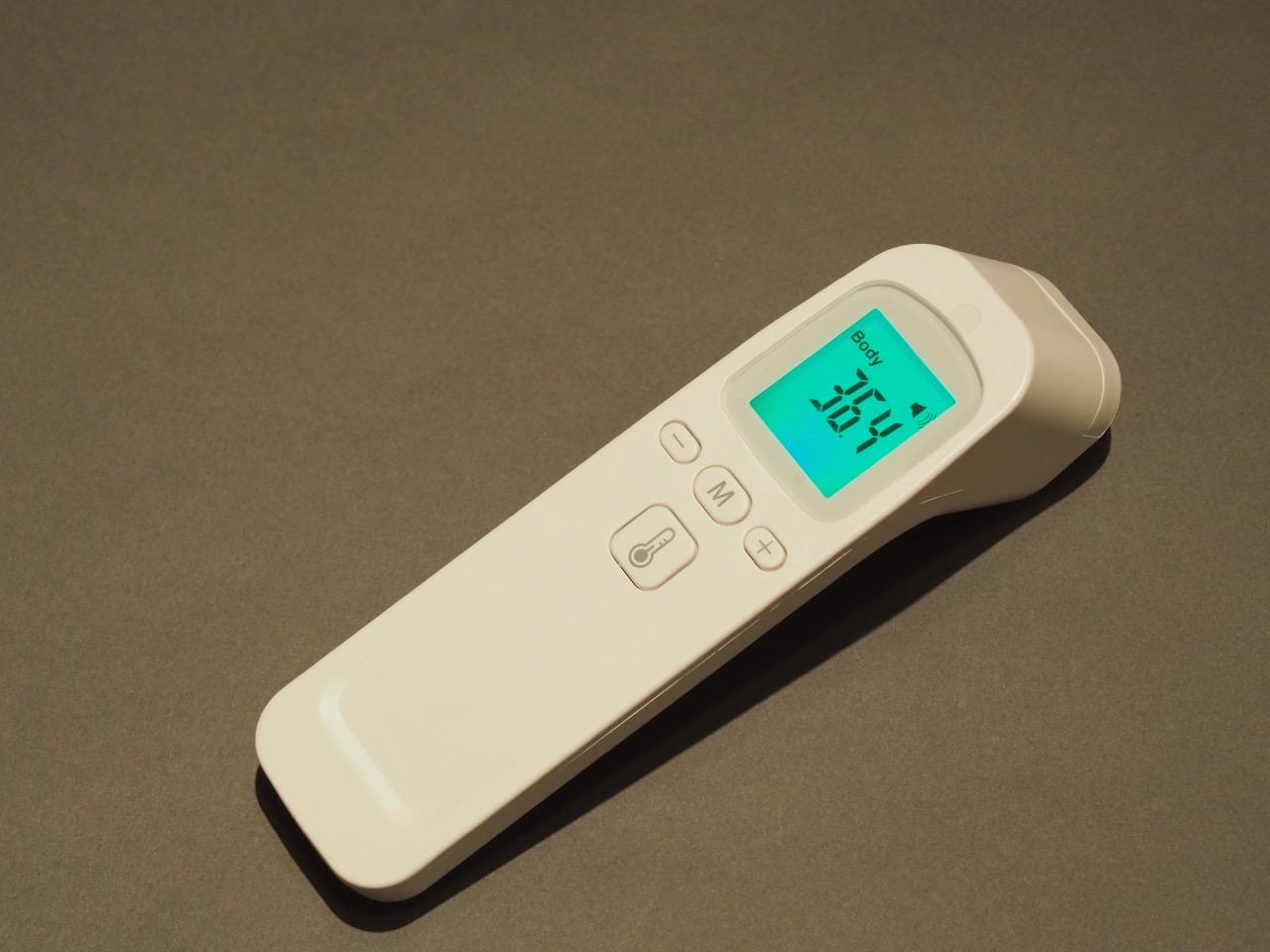 自衛のため、こまめに体温測定