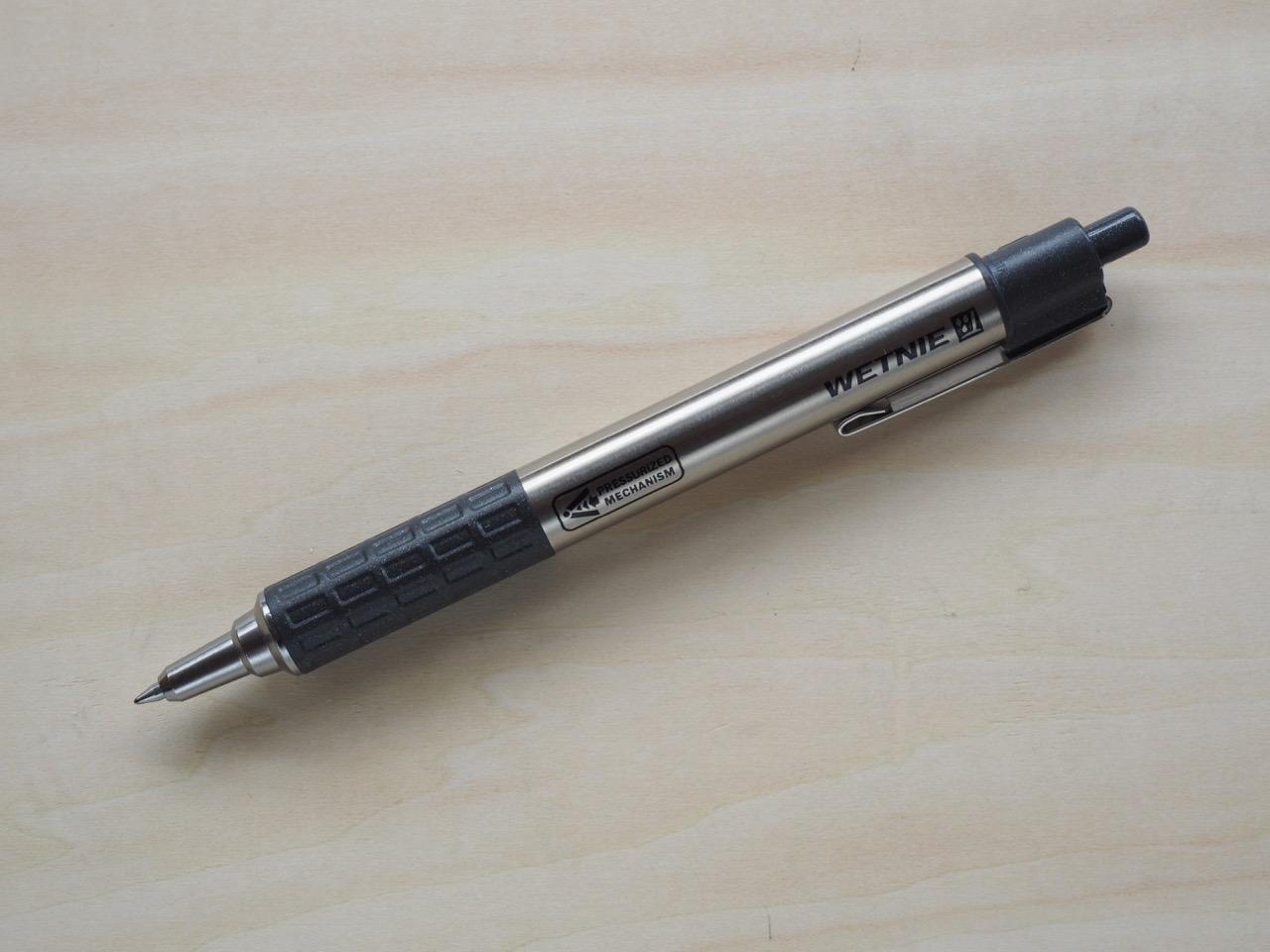 雨でも上を向いても書けるペン