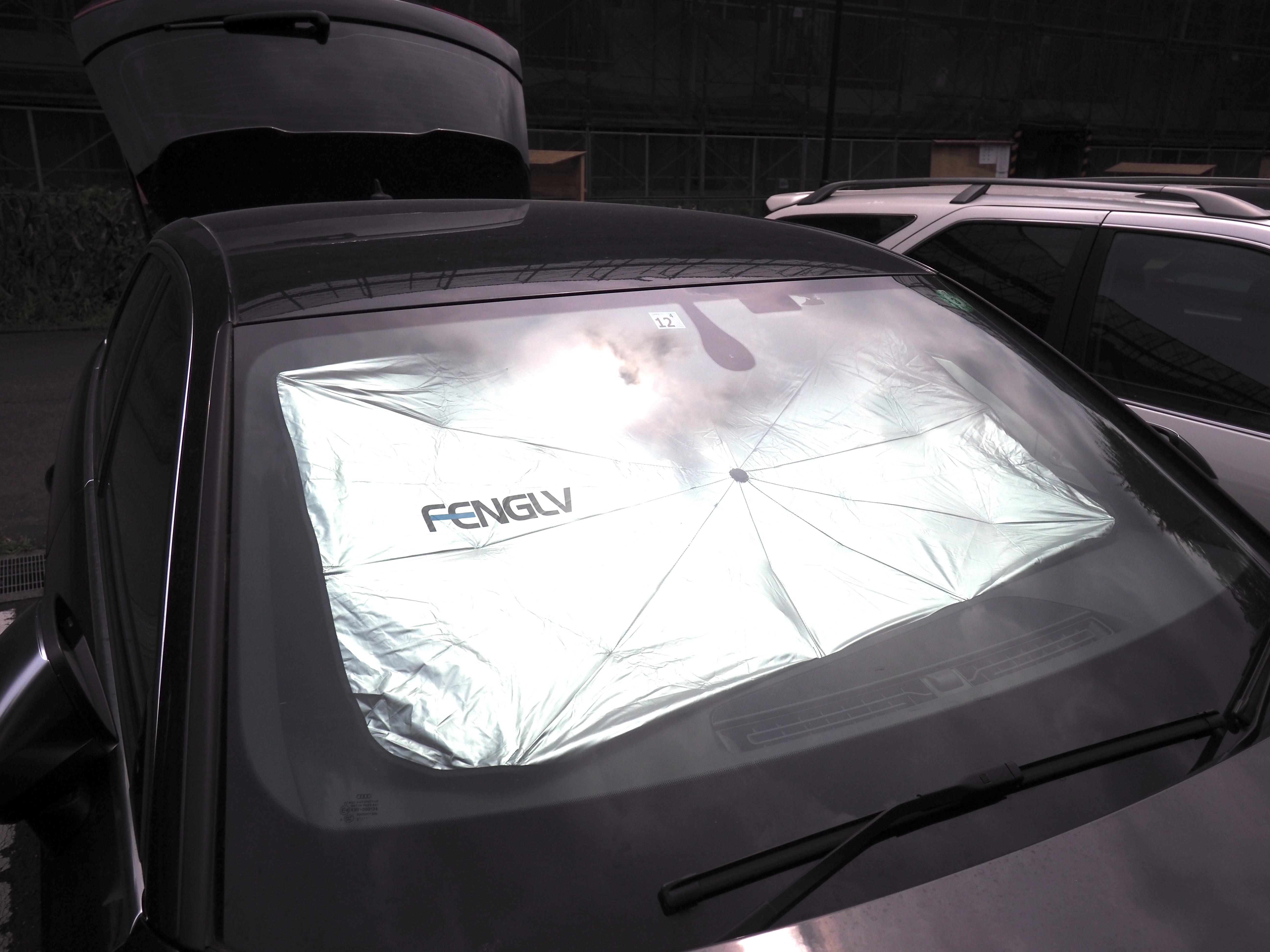 炎天下の駐車には車専用の日傘を